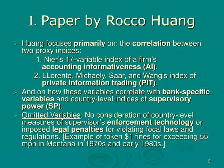 I paper by rocco huang