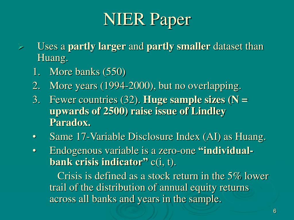 NIER Paper