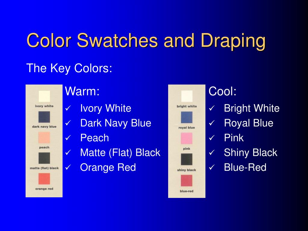 Color Swatches and Draping