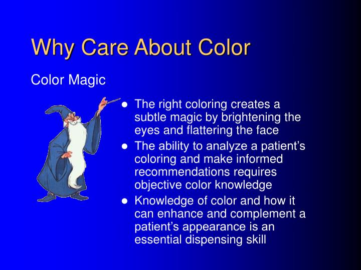 Why care about color