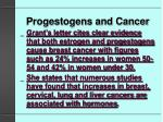 progestogens and cancer21