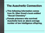 the auschwitz connection