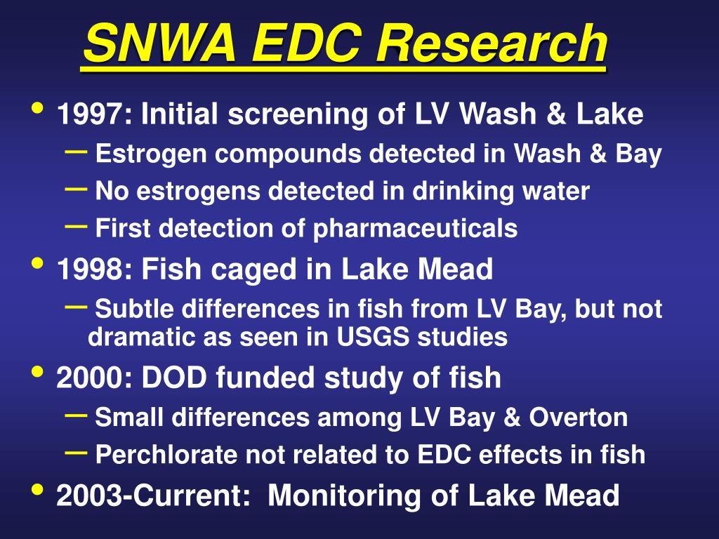 SNWA EDC Research