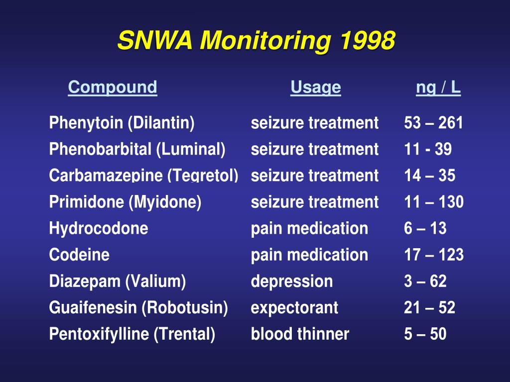 SNWA Monitoring 1998