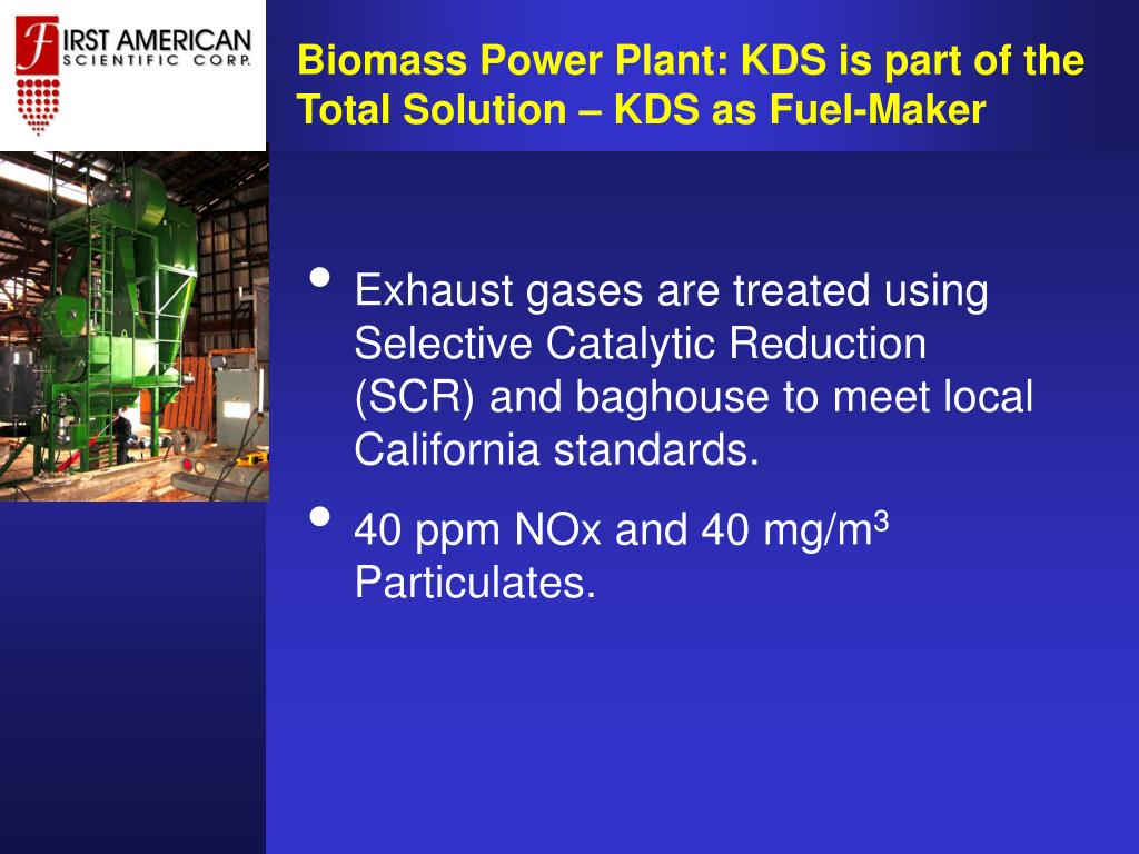 Biomass Power Plant: KDS is part of the Total Solution – KDS as Fuel-Maker