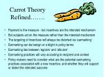 carrot theory refined