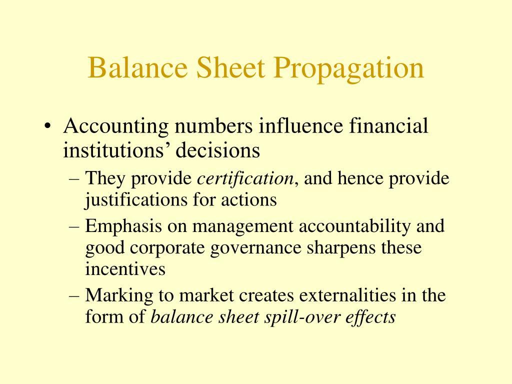 Balance Sheet Propagation