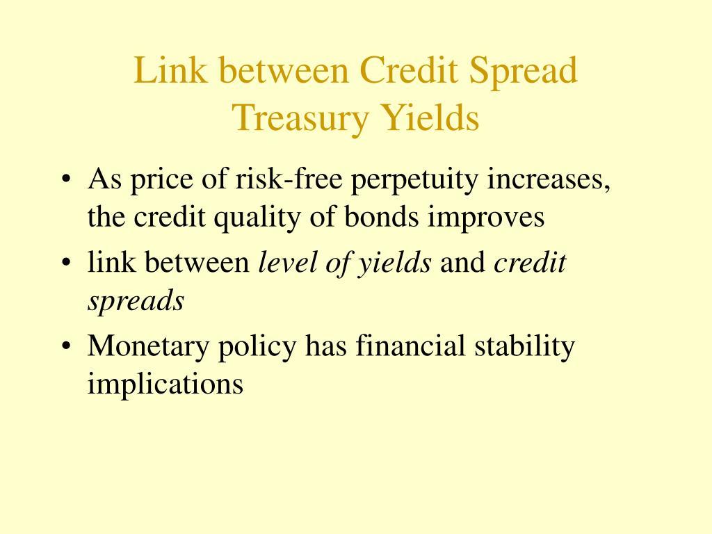 Link between Credit Spread