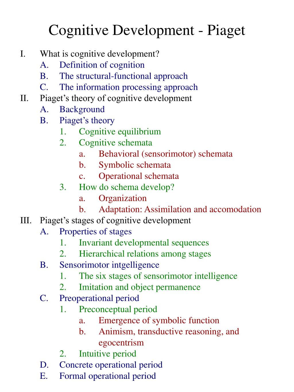Ppt Cognitive Development Piaget Powerpoint Presentation Id265903