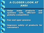 a closer look at ansi