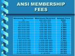 ansi membership fees