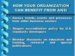 how your organization can benefit from ansi8