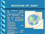 mission of ansi