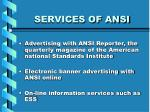services of ansi15