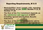 reporting requirements m e22
