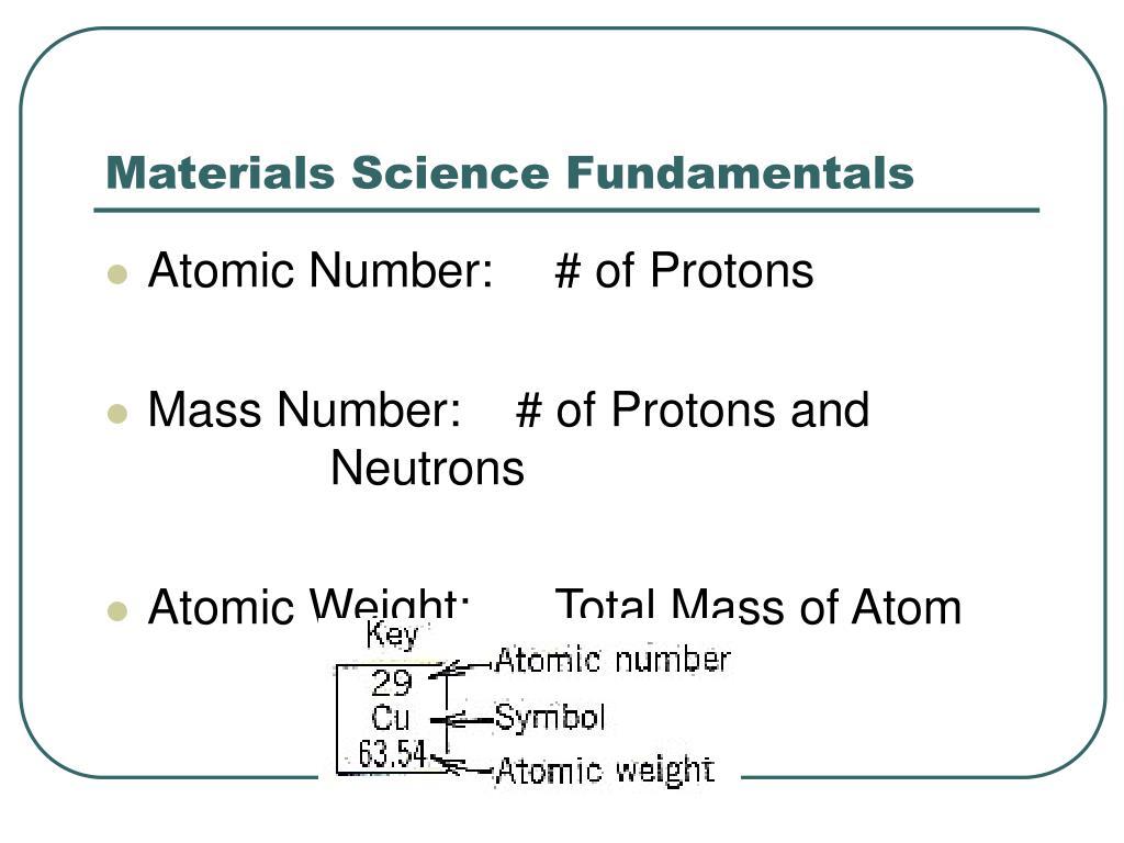 Materials Science Fundamentals