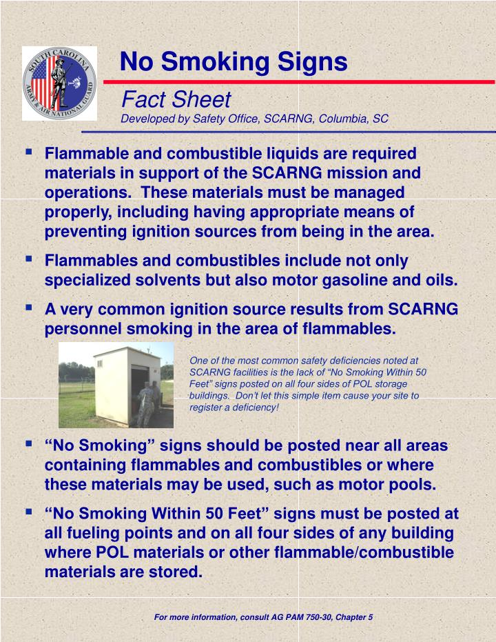 Fact sheet developed by safety office scarng columbia sc