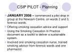 csip pilot planning