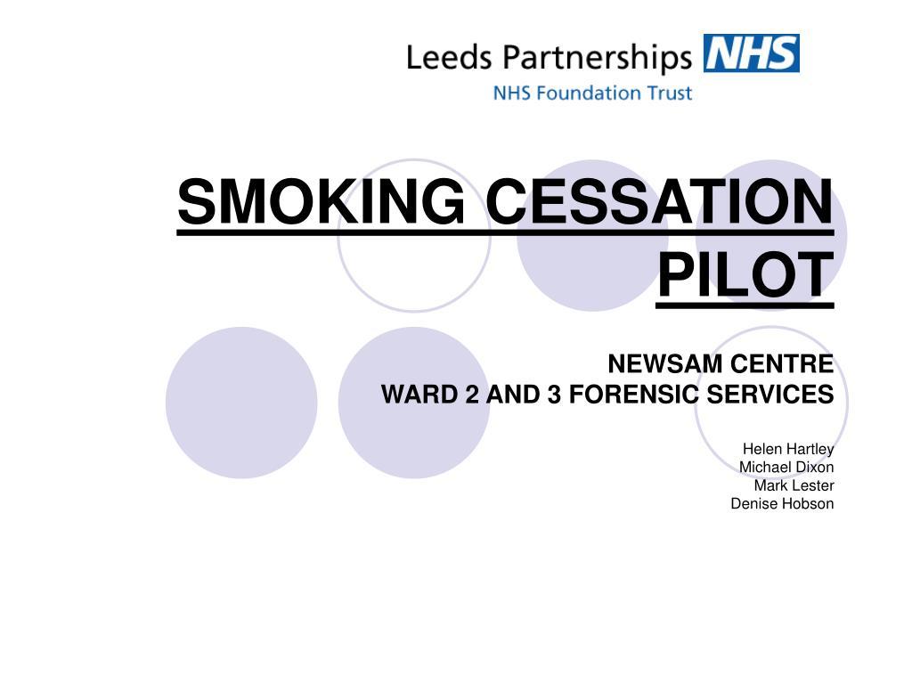 smoking cessation pilot l.
