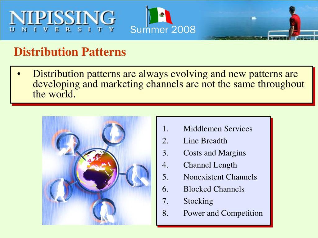 Distribution Patterns