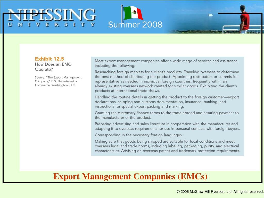 Export Management Companies (EMCs)