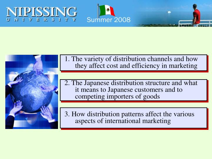 1. The variety of distribution channels and how they affect cost and efficiency in marketing