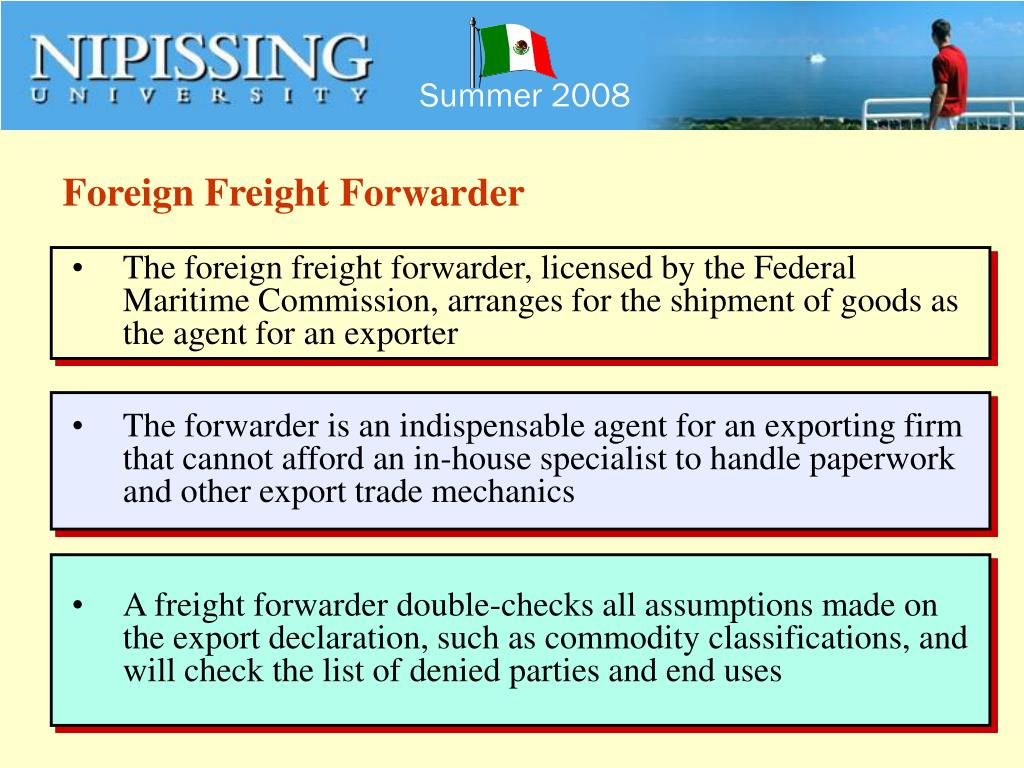 Foreign Freight Forwarder