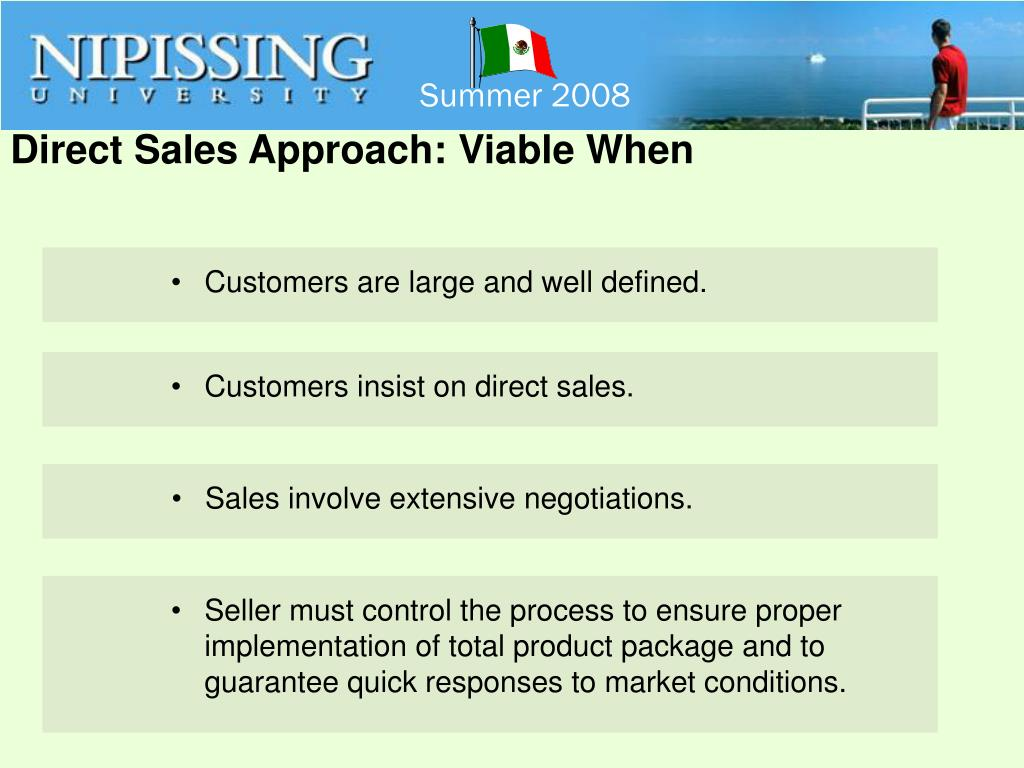 Direct Sales Approach: Viable When
