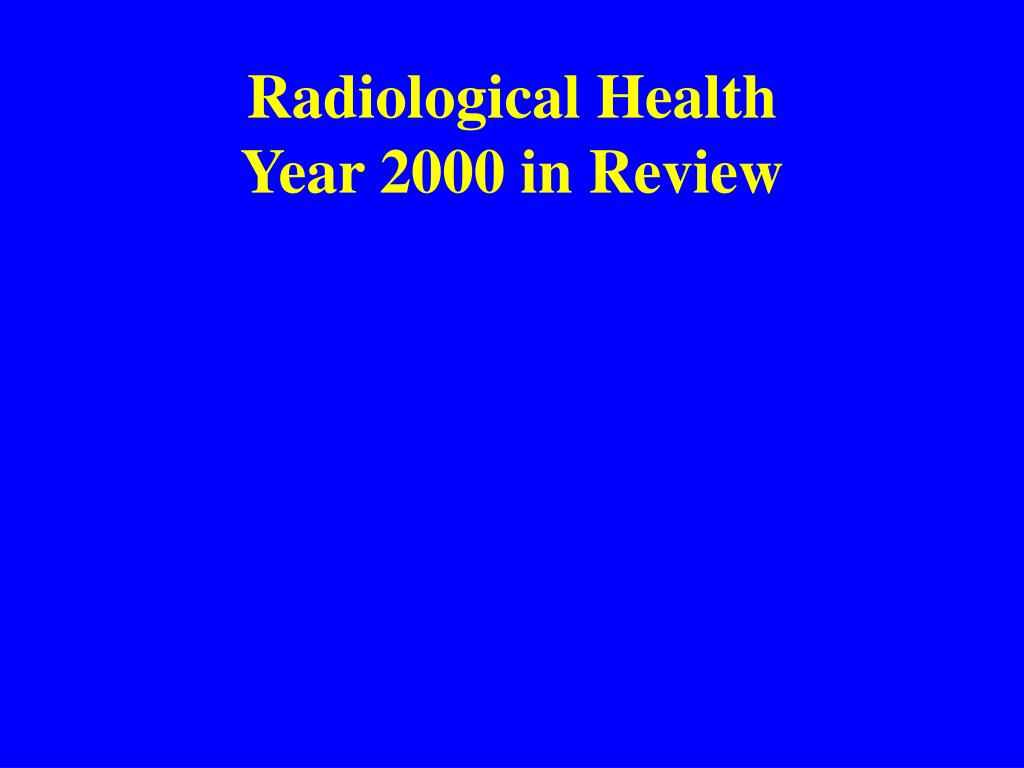 Radiological Health