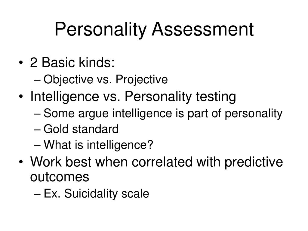 personality assessment l.