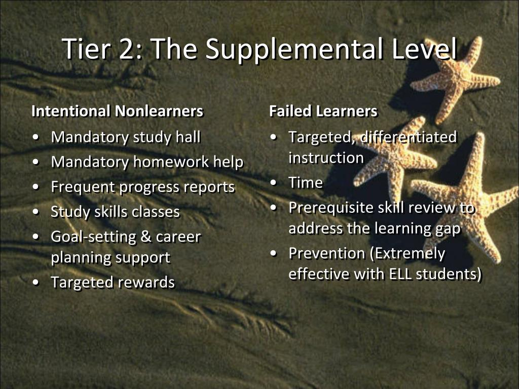 Tier 2: The Supplemental Level