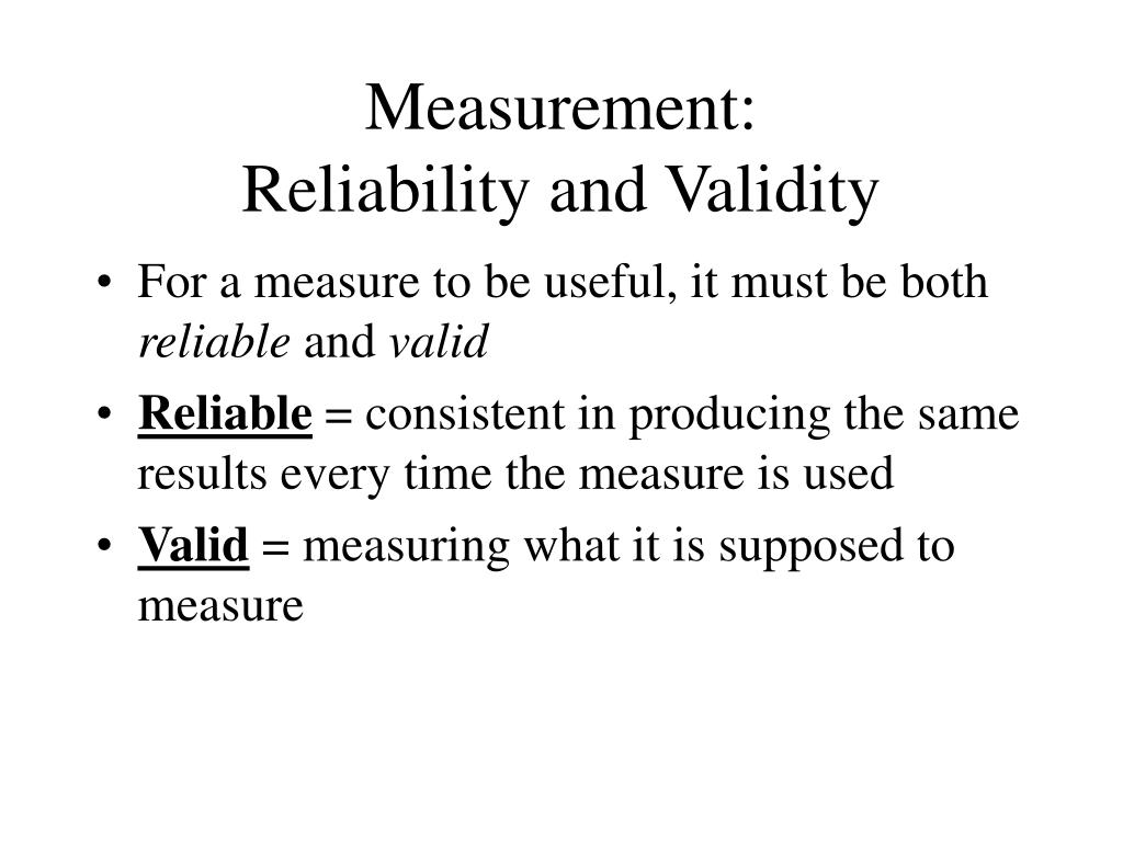 Measurement: