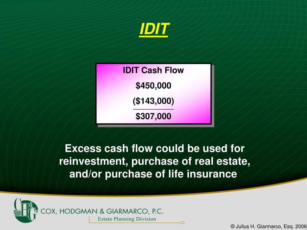 IDIT Cash Flow
