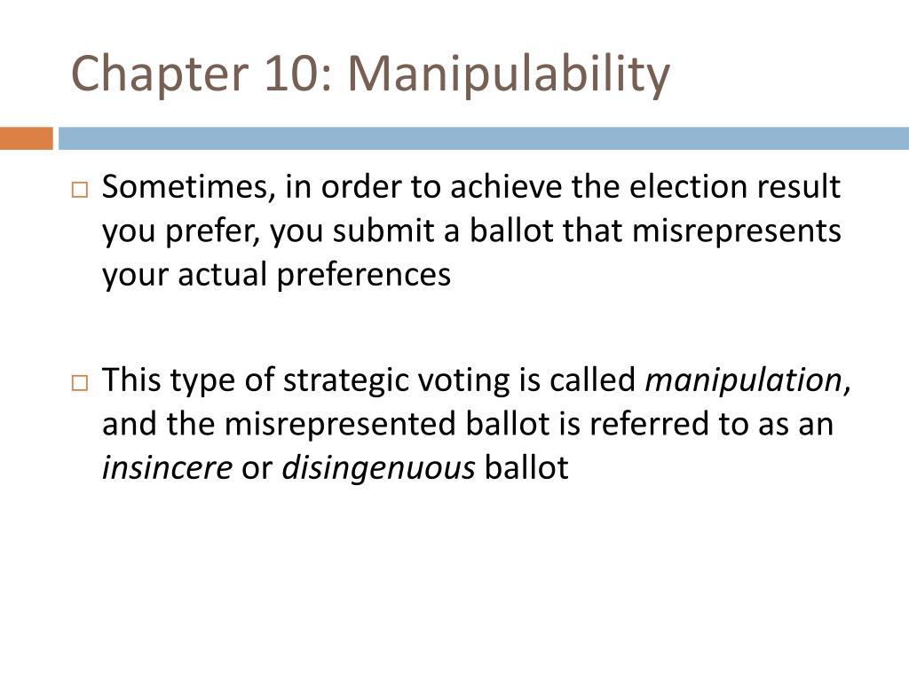 Chapter 10: Manipulability