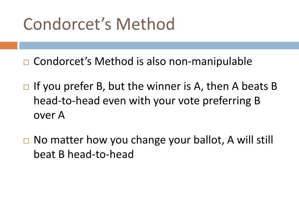 Condorcet's Method