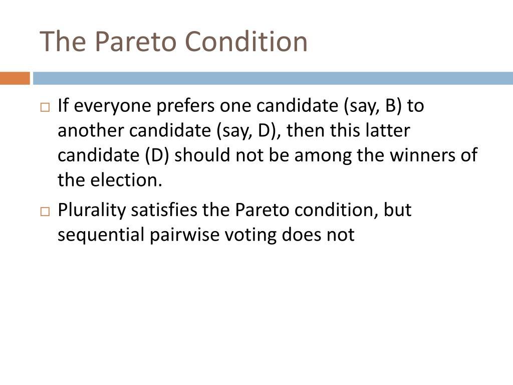The Pareto Condition