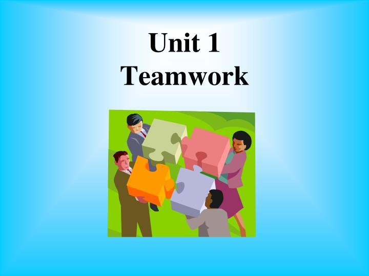 unit 1 teamwork n.
