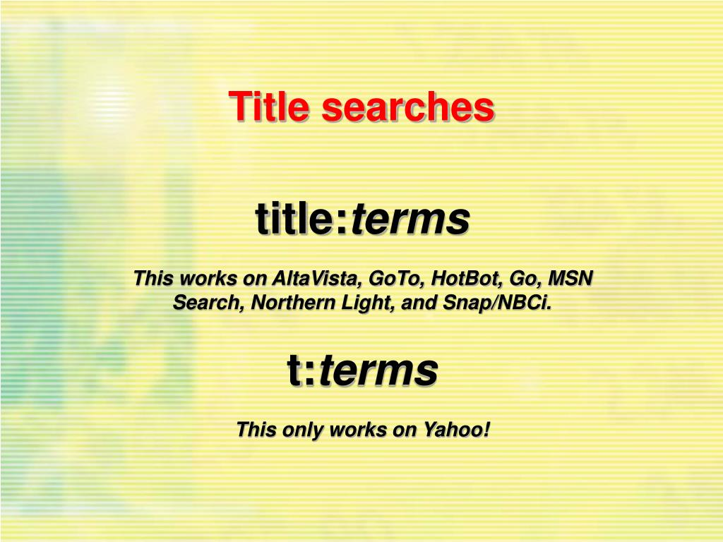 Title searches