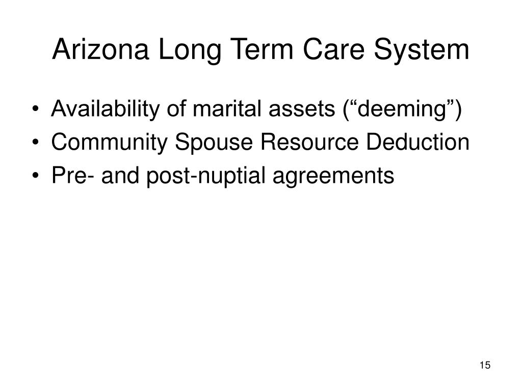 Arizona Long Term Care System