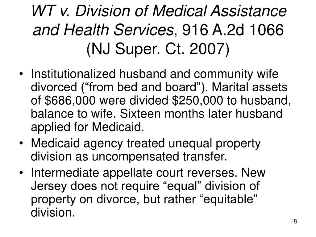 WT v. Division of Medical Assistance and Health Services