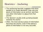 heuristics anchoring
