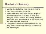 heuristics summary