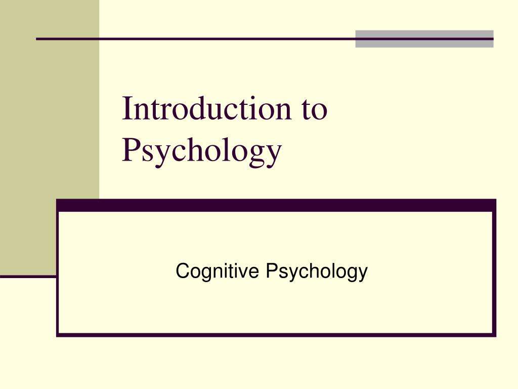 introduction to psychology l.
