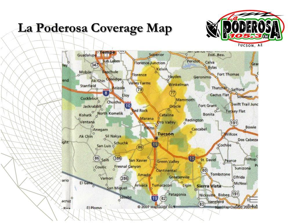 La Poderosa Coverage Map