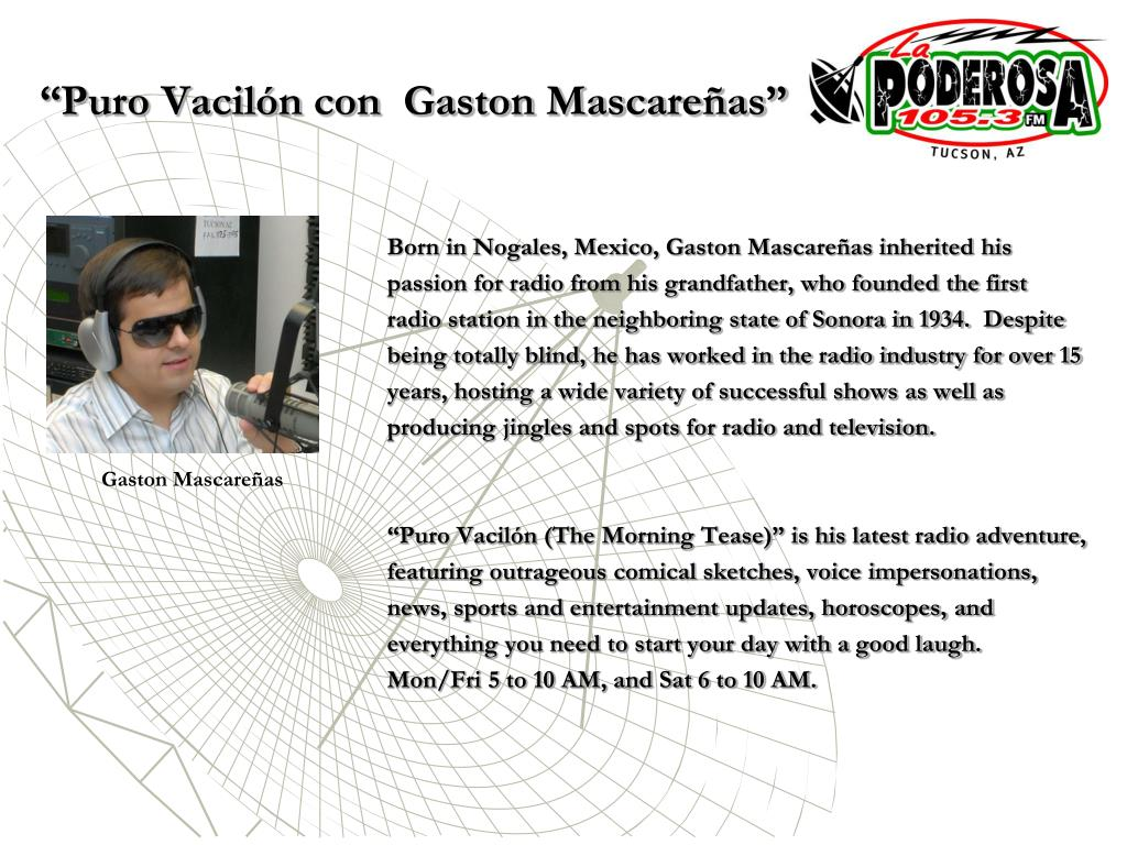 """Puro Vacilón con  Gaston Mascareñas"""