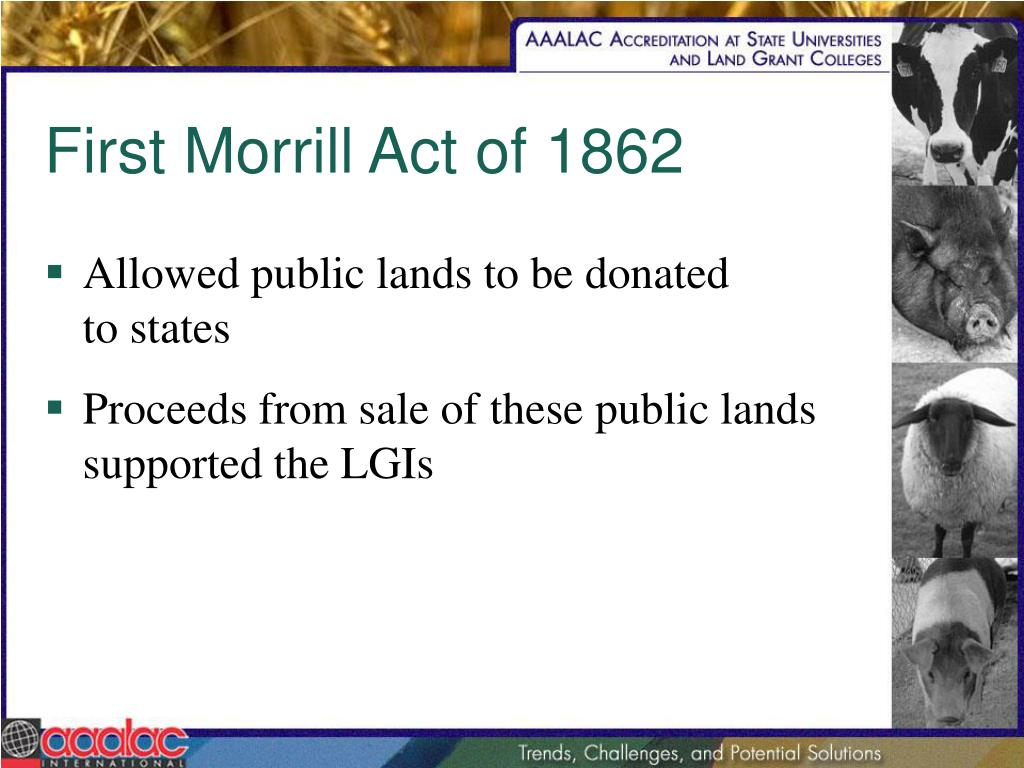 First Morrill Act of 1862