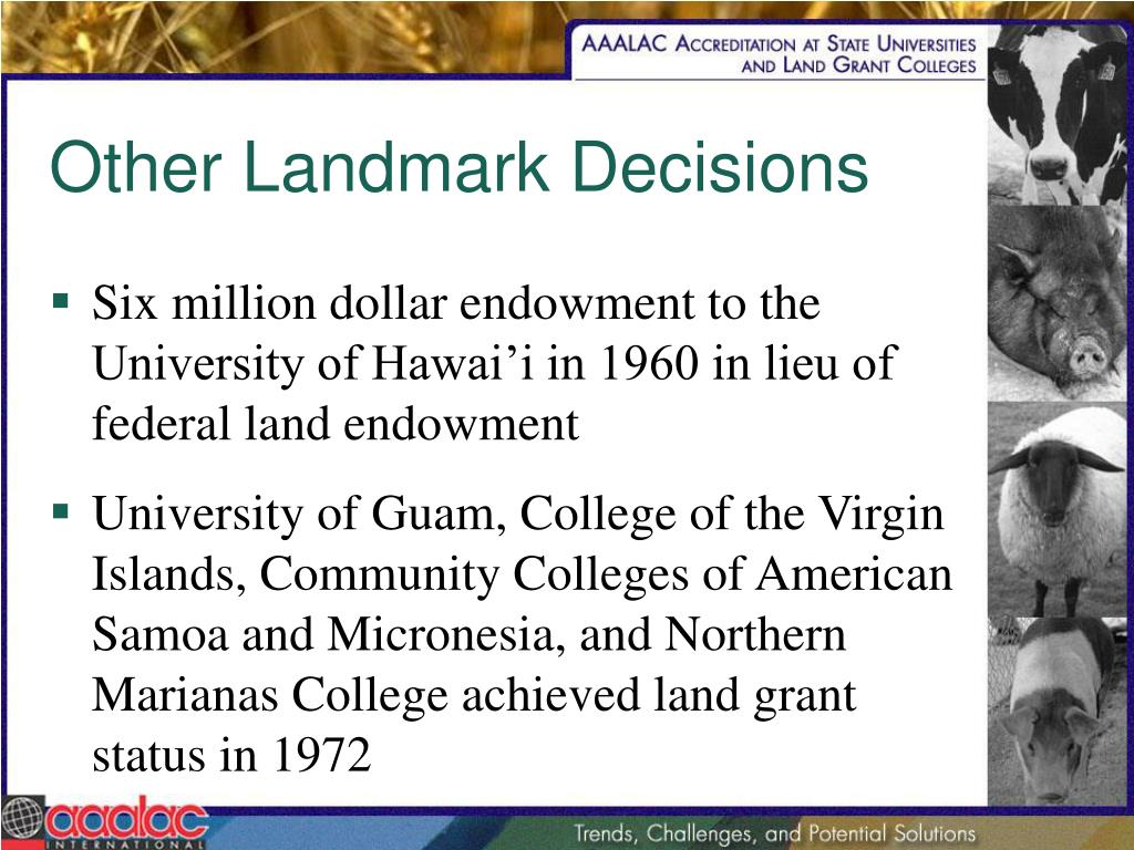Other Landmark Decisions