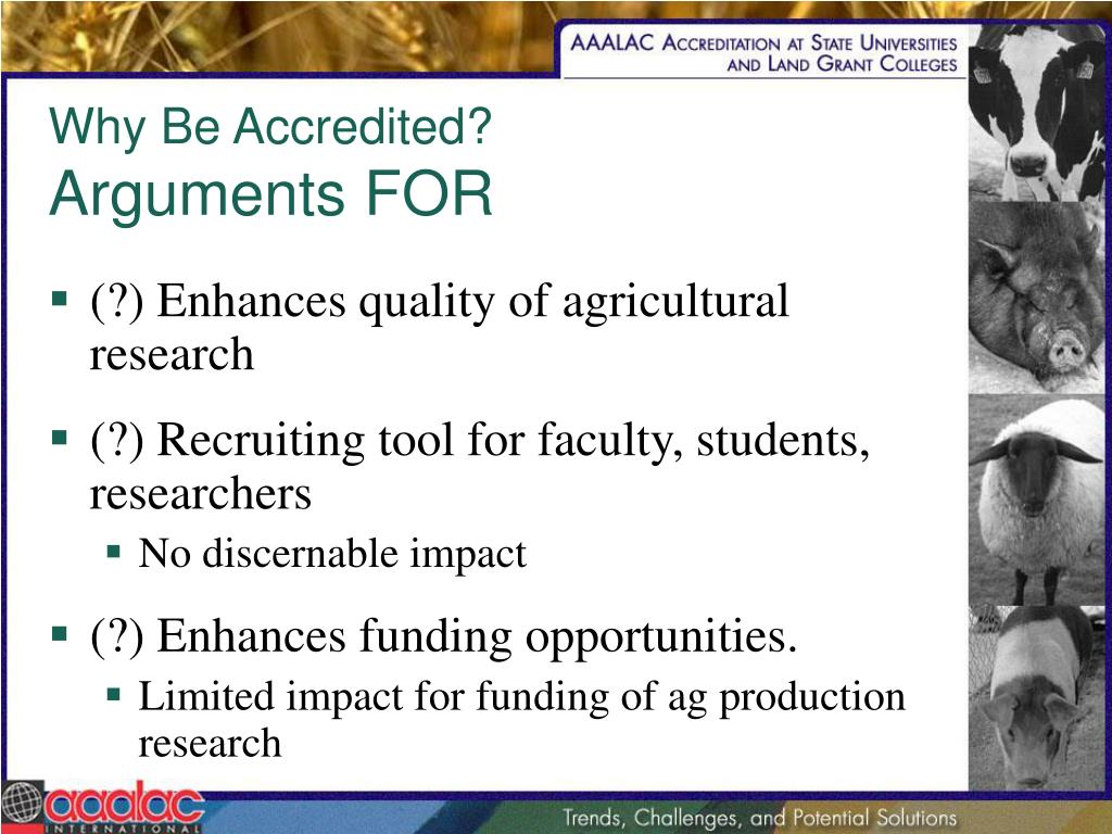 Why Be Accredited?