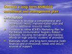 action item 1 develop a long term kswebiz enrollment and management plan