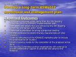 action item 1 develop a long term kswebiz enrollment and management plan6